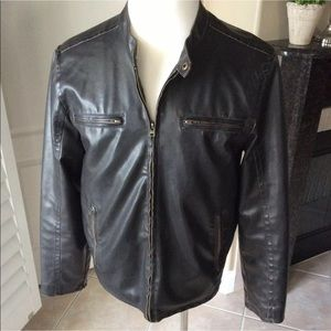 Levi's Faux Leather Dark Brown Moto Jacket Medium